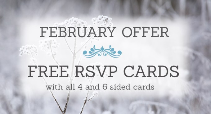 February Wedding Stationery Sale