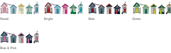 Beach Hut Wedding Sample Colours