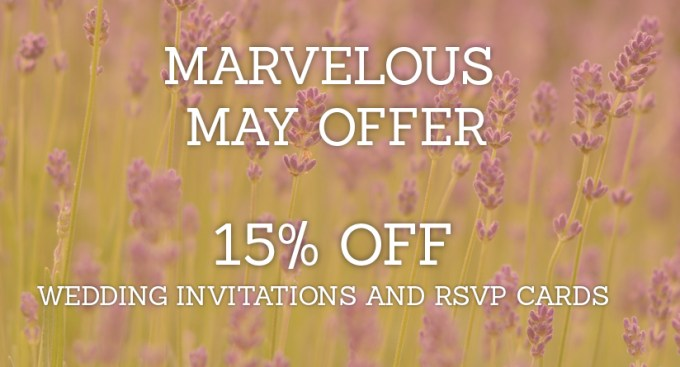 MAY 2015 wedding invitation and RSVP card sale