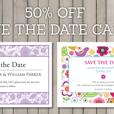 Wedding Stationery Offer – 50% Discount on Save the Date Cards