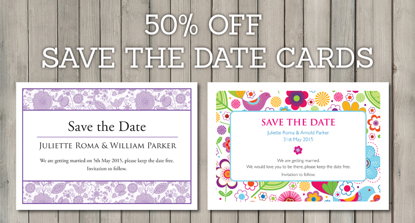 save the date wedding stationery