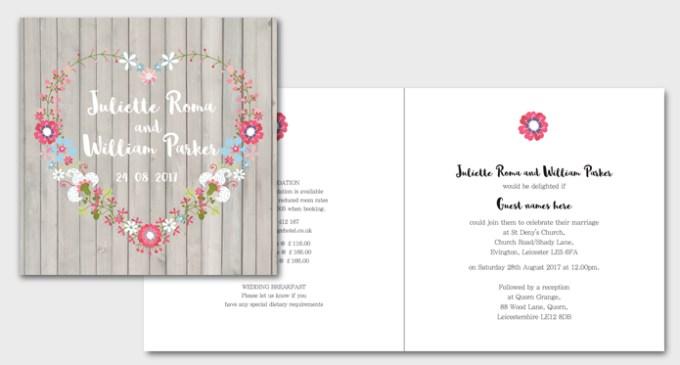 Amour Square Wedding Invite
