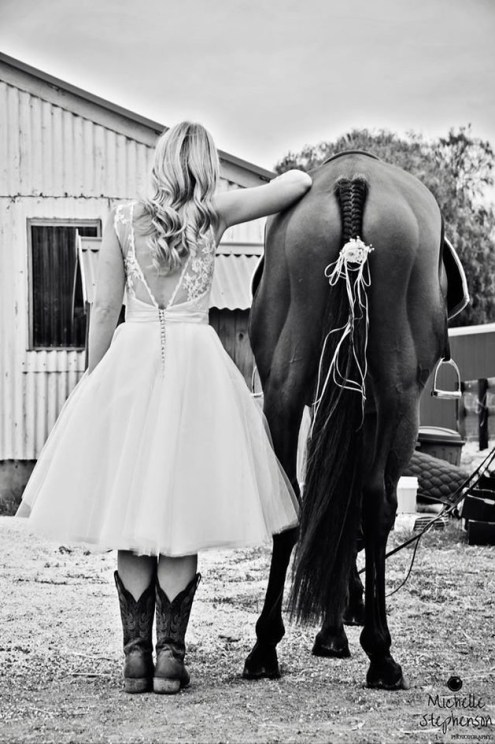 Wedding Bride and Horse