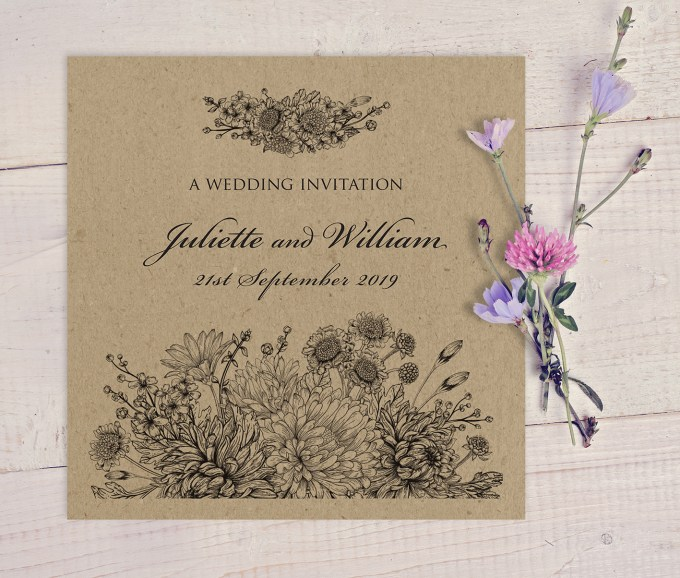 Botanitcal Gardens wedding stationery