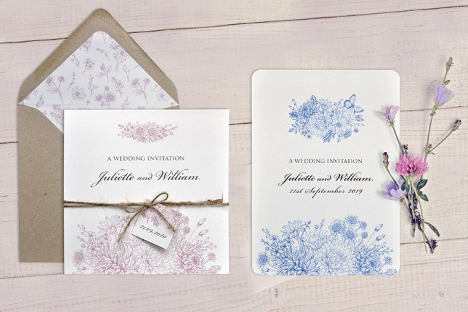 Botanical Gardens wedding stationery White
