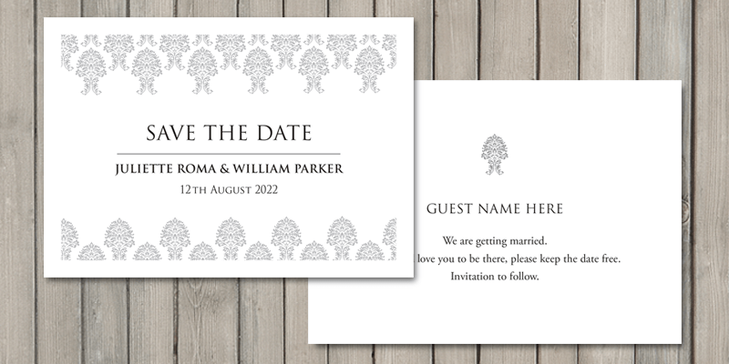 Wedding stationery starts with beautiful save the date cards.