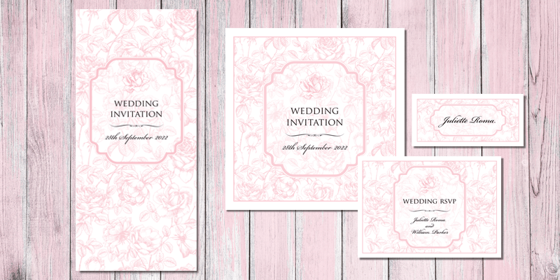 English Rose Wedding Stationery comprises of a full range of  stationery and is eco friendly.