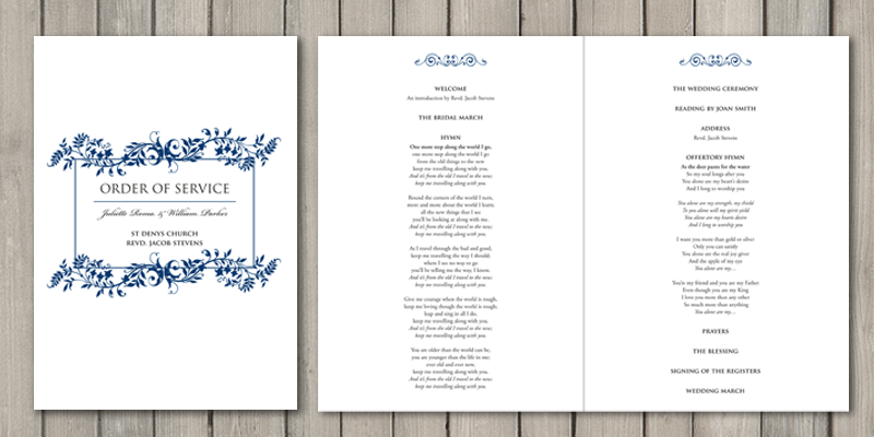 Flourish Order of the day can be a 4 page or even 12 pages depending on the church service.