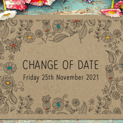 Wedding change of date card