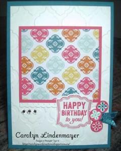 Design Team Card Sketch entry by Carolyn