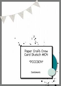 Paper Craft Crew Card Sketch #102