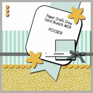 Paper Craft Crew Card Sketch #109