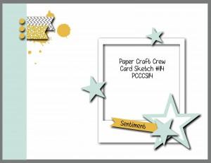 Paper Craft Crew Card Sketch #114