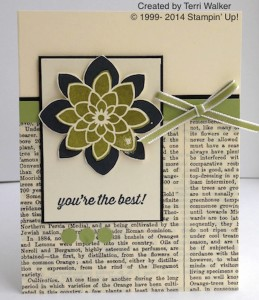 Paper Craft Crew Card Sketch #128 design team submission by Terri Walker. #stampinup #papercraftcrew #terriwalker
