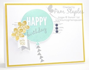 Paper Craft Crew Card Sketch #129 design team submission by Pam Staples. #stampinup #papercrafts #pamstaples #sunnygirlscraps