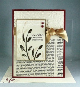 Featured Artisan for Paper Craft Crew Card Sketch 128