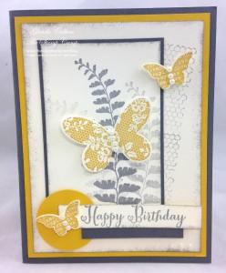 Paper Craft Crew Card Sketch #133 design team submission by Glenda Calkins. #stampinup #papercrafts