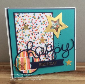 Paper Craft Crew Card Sketch #133 design team submission by Jan McQueen. #stampinup #papercraftcrew #janmcqueen