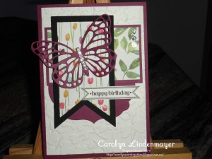 Paper Craft Crew Card Sketch #136 design team submission by Carolyn Lindenmayer. #stampinup