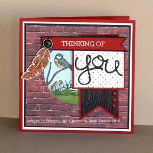 Paper Craft Crew Card Sketch #135 design team submission by Heidi Weaver. #stampinup #papercraftcrew #heidiweaver