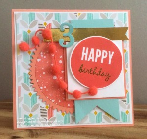 Paper Craft Crew Card Sketch #136 design team submission by Jan McQueen. #stampinup #papercraftcrew #janmcqueen