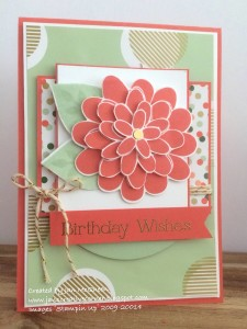 Paper Craft Crew Card Sketch #137 design team submission by Jan McQueen. #stampinup #papercraftcrew #janmcqueen