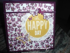 Paper Craft Crew Card Sketch #142 design team submission by Carolyn Lindenmayer. #stampinup