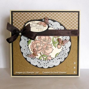 Paper Craft Crew Card Sketch #139 design team submission by Heidi Weaver. #stampinup #papercraftcrew #heidiweaver