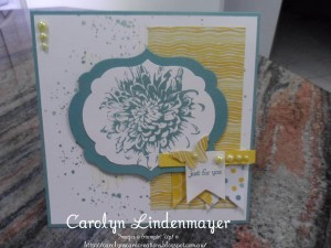 Paper Craft Crew Card Sketch #144 design team submission by Carolyn Lindenmayer. #stampinup