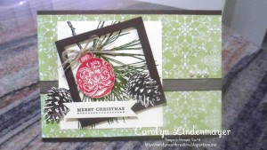 Paper Craft Crew Card Sketch #150 design team submission by Carolyn Lindenmayer. #stampinup