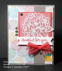 Paper Craft Crew Card Sketch #148 design team submission by Deborah Smart. #stampinup #papercraftcrew #deborahsmart