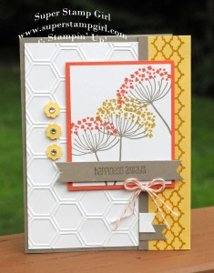 Paper Craft Crew Card Sketch #148 design team submission by Crystal Komara. #stampinup #papercraftcrew #crystalkomara