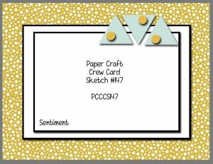 Paper Craft Crew Card Sketch 147. #stampinup #papercraftcrew