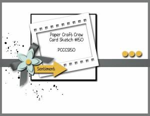 Paper Craft Crew Card Sketch 150. #stampinup #papercraftcrew