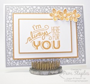 Paper Craft Crew Card Sketch #147 design team submission by Pam Staples. #stampinup #papercrafts #pamstaples #sunnygirlscraps