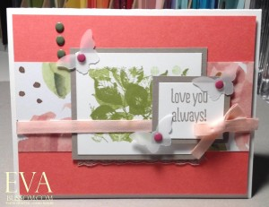 Paper Craft Crew Card Sketch #151 design team submission by Eva Bussom. #stampinup #papercraftcrew #evabussom