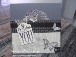 Paper Craft Crew Card Sketch #153 design team submission by Carolyn Lindenmayer. #stampinup