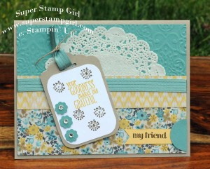 Paper Craft Crew Card Sketch #153 design team submission by Crystal Komara. #stampinup #papercraftcrew #crystalkomara