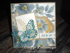 Paper Craft Crew Card Sketch #162 design team submission by Carolyn Lindenmayer. #stampinup