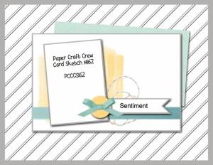 Paper Craft Crew Card Sketch 162. #stampinup #papercraftcrew #cardchallenge