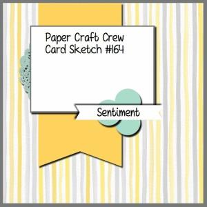 Paper Craft Crew Card Sketch 164