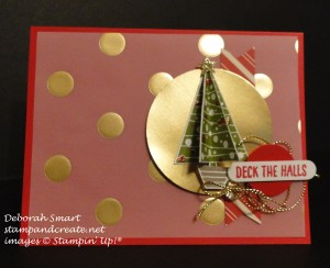 Paper Craft Crew Challenge #166 design team submission by Deb Smart. #stampinup #papercraftcrew #deborahsmart