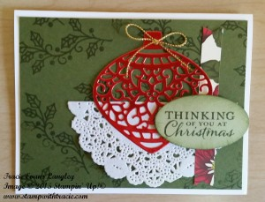 Paper Craft Crew Card Sketch #166 design team submission by Tracie Langley. #stampinup #tracielangley