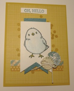 Paper Craft Crew Card Sketch design team submission by Mary Noble. #stampinup #marynoble