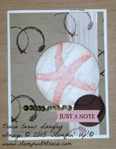 PCCC 184 Picture Perfect Starfish submitted by Tracie Langley.  #tracielangley #stampinup #papercraftcrew #cardsketch