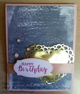 Paper Craft Crew Tic Tac Toe Challenge 186 Love Blooms Embellishments Kit submitted by Tracie Langley. #tracielangley #stampinup #papercraftcrew #cardsketch