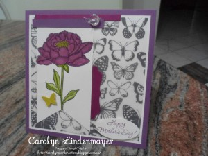 Paper Craft Crew Card Sketch Challenge 189 design team submission by Carolyn Lindenmayer. #stampinup #carolinelindenmayer