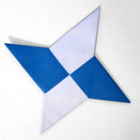 How to Fold an origami shuriken (ninja star) « Origami :: WonderHowTo | 453x453