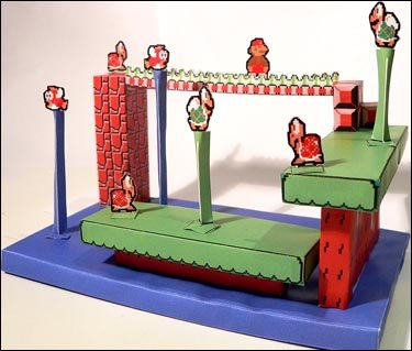 Super Mario Papercraft model
