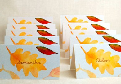 Autumn Dinner Place Cards For Free